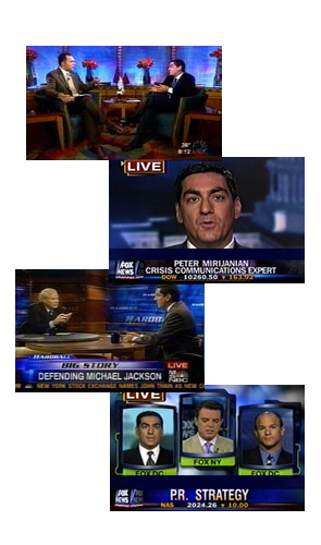 screen shots from television guest appearances